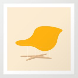 Yellow La Chaise Chair by Charles & Ray Eames Art Print