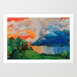 Thunder Bears Art Print