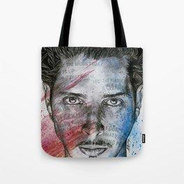 Pretty Noose: Red & Blue: Tribute to Chris Cornell Tote Bag