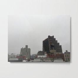 NYC Rooftop: Fog Metal Print
