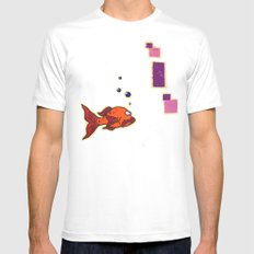Lil' Orangy Mens Fitted Tee White MEDIUM