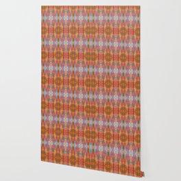 Muticolored Shibori Tie Dye Wallpaper