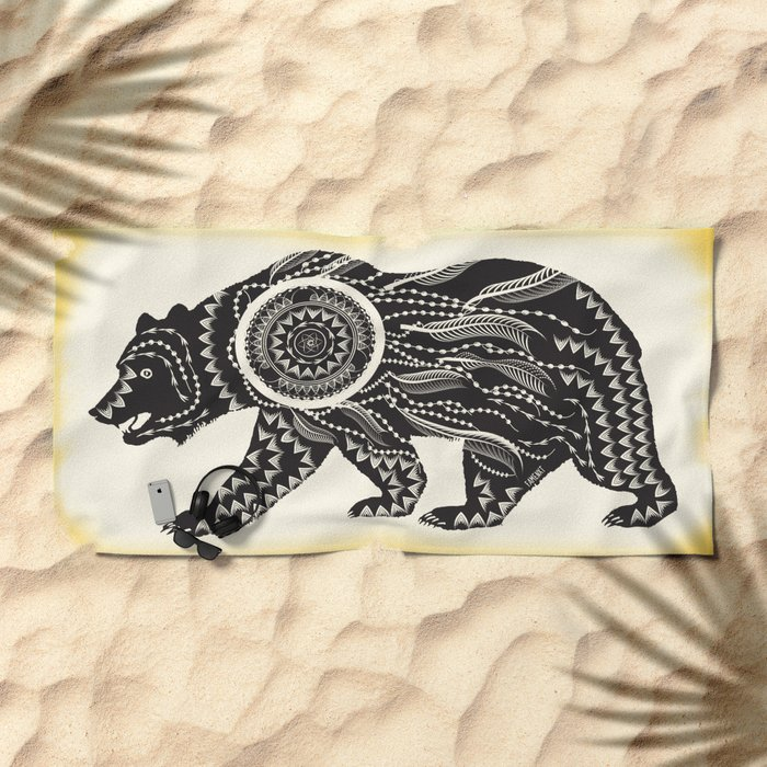 Dream Catcher Bear Beach Towel