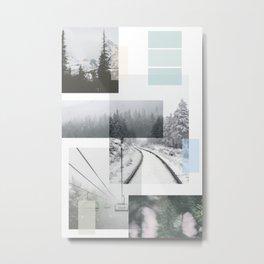 Wintery Landscape Metal Print