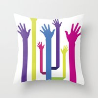 hands Throw Pillows featuring Hands by Sitchko Igor