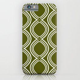 Hatchees (Olive Green) iPhone Case