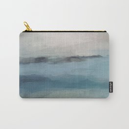 Abstract Painting, Light Blue, Teal, Sage Green Prints Modern Wall Art, Affordable Stylish Carry-All Pouch