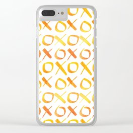 xoxo Watercolor Yellow Orange Clear iPhone Case