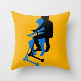 Landing Gears - Stunt Scooter Rider Throw Pillow