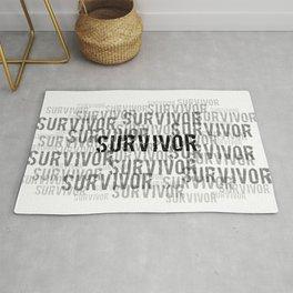 Survivor (Black Text) Rug