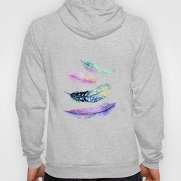 Watercolor Feather Hoody