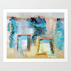 Window Fishing Art Print