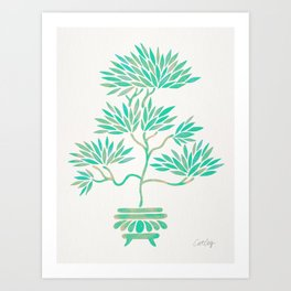 Bonsai Tree – Mint Palette Art Print