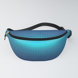 Blue Abstract Light Burst Design Fanny Pack