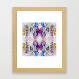 Perfect Little - Kaleidascope version by Jane Davenport Framed Art Print