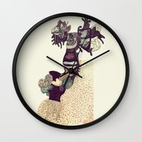 moose Wall Clocks featuring Moose by Chelsea Sherman