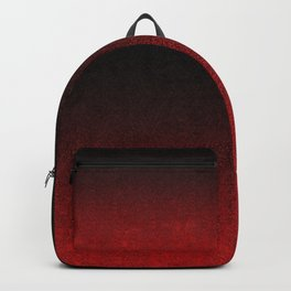 Red & Black Glitter Gradient Backpack
