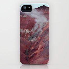 Icelandic volcano iPhone Case