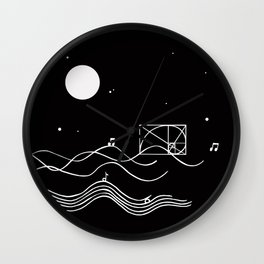 between sound and silence Wall Clock