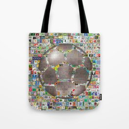 Soccer Ball on Philately Tote Bag