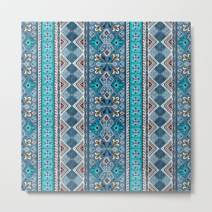 Grand Bazaar - Blue Metal Print