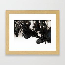 Black ink in water Framed Art Print