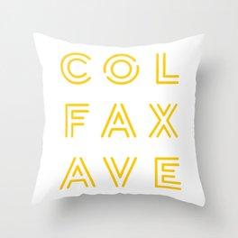 Colfax Ave Yellow Logo Throw Pillow