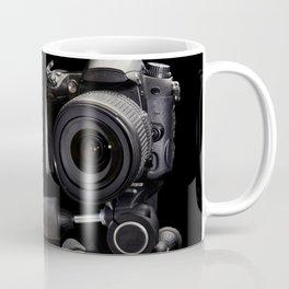 Plaster head and professional photo camera Coffee Mug