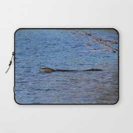 Swimming Alligator Laptop Sleeve