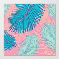 palm Canvas Prints featuring Palm by haytay