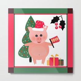 Christmas, pig year 2 Metal Print