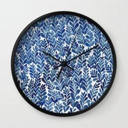 Indigo blues Wall Clock