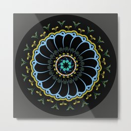 Mandala of the Waves Metal Print