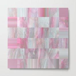 Sea Sparkle Pink Metal Print