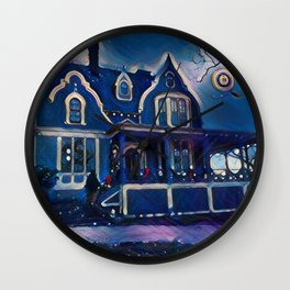 A SILENT NIGHT Wall Clock
