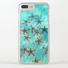 Ocean and starfish Clear iPhone Case