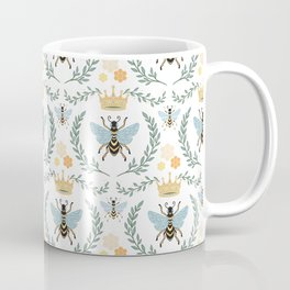 Queen Bee with Gold Crown and Laurel Frame Coffee Mug