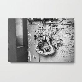 Flaky Metal Print