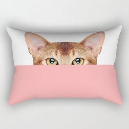 Half Cat Rectangular Pillow