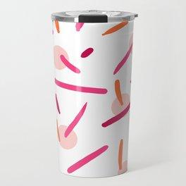 Raspberry & Pink Travel Mug