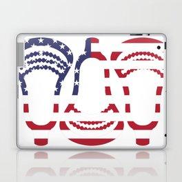Lacrosse US Flag Head Trio Laptop & iPad Skin