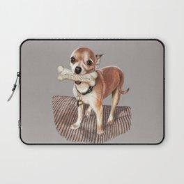 Little Dog, Big Bone Laptop Sleeve