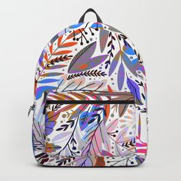 Abstract modern pink teal lilac hand painted floral Backpack
