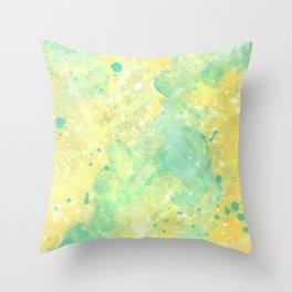 Lemon Teal Throw Pillow