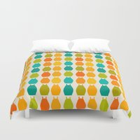 chihiro Duvet Covers featuring my neighbor pattern by ururuty