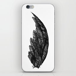Black raven wing iPhone Skin