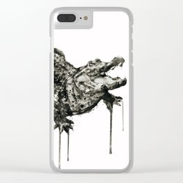 Alligator Black and White Clear iPhone Case