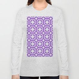 Purple geometric hexagon pattern Long Sleeve T-shirt