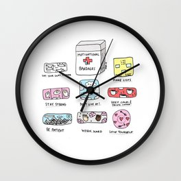 Emotional First Aid Kit Wall Clock