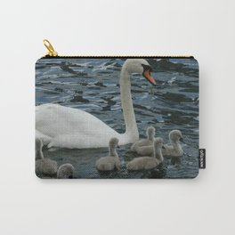 Mute Swan & Cygnets Carry-All Pouch